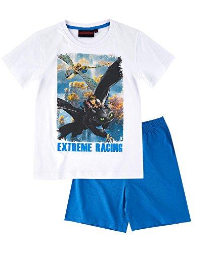 Dragones Chicos Pijama mangas cortas – Blanco