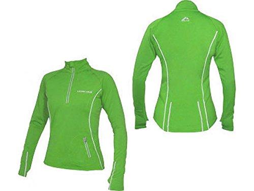 More Mile Vancouver Frauen Thermal Hallo-Viz Laufen / Fitnessstudio / Sport Top Green (Kürzer Stretch-körper)