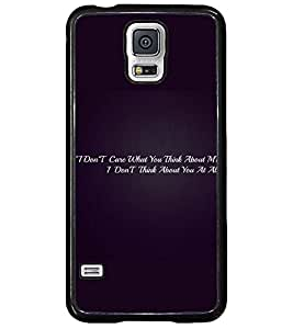 PRINTSWAG QUOTE Designer Back Cover Case for SAMSUNG GALAXY S5