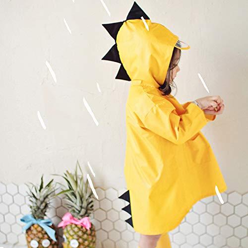 Wilk wasserdichte Regenmantel im Freien Nette Dinosaurier Polyester Kinder Raincoat wasserdichte Regen-Mantel-Kinder Impermeable Poncho Jungen Regen Jacke Kinder für Outdoor