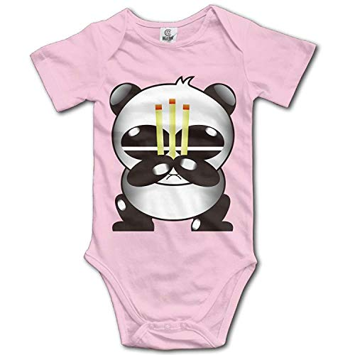 Climbing Clothes Set Prayer Panda Bodysuits Romper Short Sleeved Light Onesies for 0-24 Months,12M ()