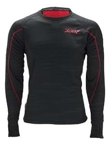 Zoot Herren Bekleidung M Performance Run Microlite Long Sleeve Tee, Black/Zoot Red, XL, 2634208.1.1