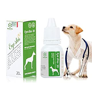 AUOKER Dog/Cat Eye Drops Wash Cleaner, 100% Natural Effective Dewormer for Dogs Cats, Refresh Tears Lubricant Eye Drops, Removes Debris, Relieves Eye Redness and Irritation From Allergies- 0.7oz