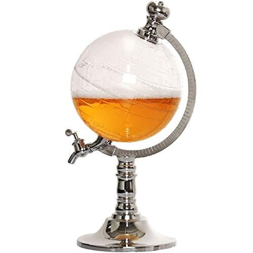 DLINMEI Whiskey Decanter - Globusausgießer für Likör, Scotch, Bourbon, Wodka oder Wein - Klarglas Weinkanone 1L (Wasser-krug-spender Mini)