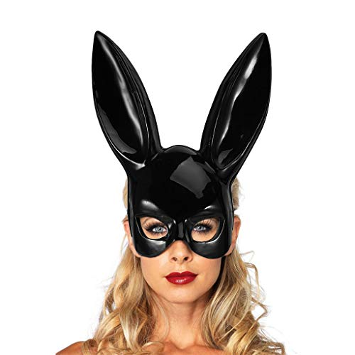gfdhj Weihnachtsmaske Halloween Maskerade Maske Bar Nachtclub Bunny Ohren Maske 2st (Farbe : Bright black)