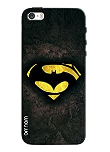 Omnam batman logo printed designer back cover case for Apple iPhone 5s
