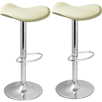 Pair of Venus Bar Stools Cream - Breakfast Bar Stool
