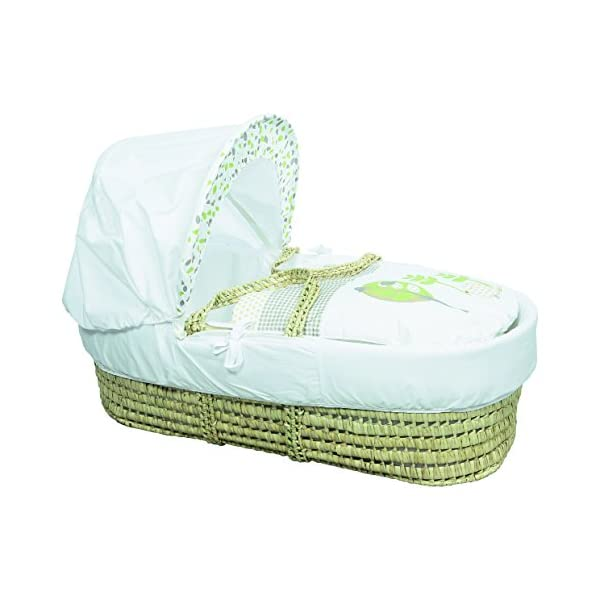 Kinder Valley Three Little Birds Moses Basket  Suitable from newborn to 6 months, this Moses Basket uses Easy-care Poly Cotton with a soft padding surround A good balance between comfort and style, moses Basket will ensure safe and sound sleeping for you and your baby The Moses Basket is a perfect starter bed for your baby. The mattress is also washable, just in case of any spillages 4