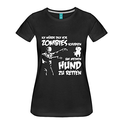 Ich würde dich vor Zombies schubsen um meinen Hund zu retten ! Grau Meliert