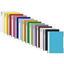 Brunnen Schnellhefter A4 farbig sortiert PP-Folie glasklares Deckblatt