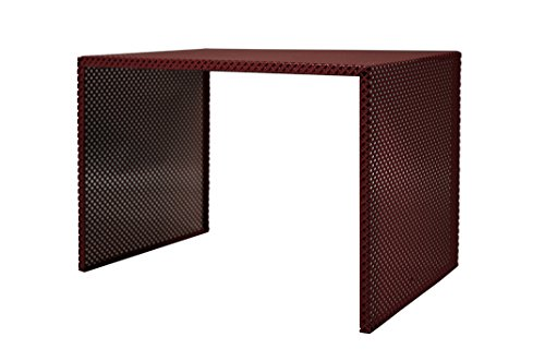 Tosel Zarina 1 Table Basse, Acier, Marron, 48 x 40 x 40 cm