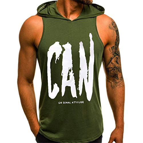 Männer Hoodie Ärmelloser Herren Kapuzenpullover Print T-Shirt mit Kapuze Tank-Top aus Baumwolle Pullover und T-Shirt S-XL Tops CICIYONER Dolce & Gabbana Hut