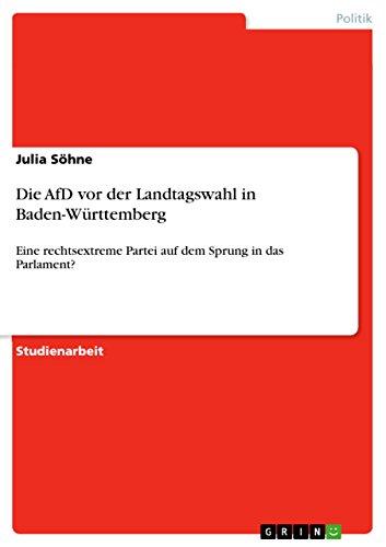 Die AfD vor der Landtagswahl in Baden-Württemberg: Eine rechtsextreme Partei auf dem Sprung in das Parlament?