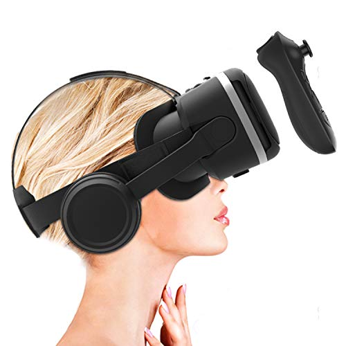 Irusu Play VR Plus VR Headset Box with Headphones and VR Remote Controller for iOS and Android Mobiles