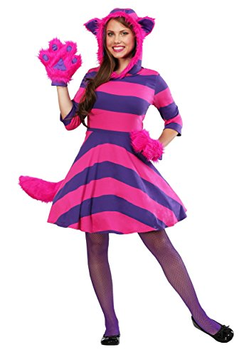 Top Fancy Cat Dress Kostüm - Cheshire Cat Plus Size Women's Fancy Dress Costume 4X
