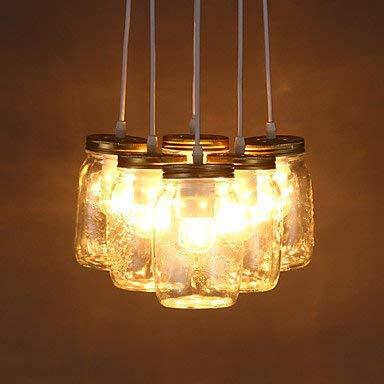Arañas Modernas Luces de Techo Colgante E2711 * Línea de 21 cm 1M Led Ikea Deseos Creativos Botella de Vidrio Dulce Personalidad Habitación para Niños Separada Luz Tres Lámpara 3C Ce Fcc Rohs para Sa