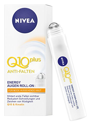 Nivea Q10 Plus Anti Falten Energy Augen Roll-On, 4er Pack (4 x 10 ml)