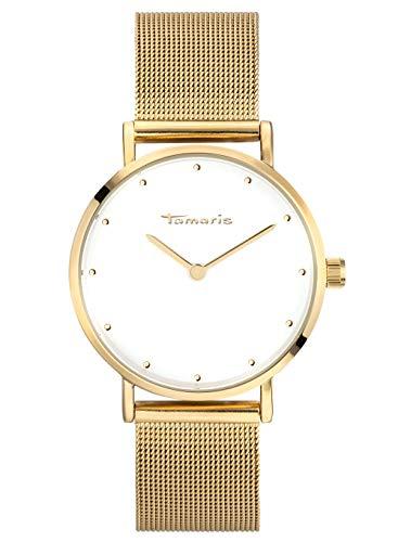 Tamaris ANDA Damenuhr Armbanduhr Gold weiß