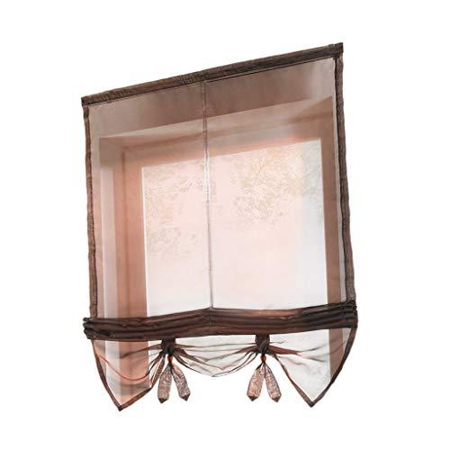 Amayay Gardinen Gardinenschal Fensterschal Dekoschal Für Schlafzimmer Wohnzimmer Blau 100X155Cm Gardinenstange Einfacher Stil Befestigung Landhaus Vintage Stil