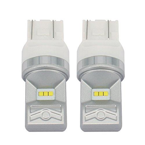 Preisvergleich Produktbild CICMOD 2x 800 Lumen 80W T20(7443) LED Birnen Rücklicht Tagfahrlicht TFL Lampe Xenon-Weiß 6500K