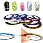 Nail Art Lot de 10 rouleaux de ruban...