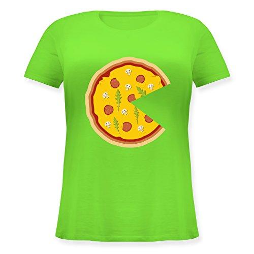 Shirtracer Partner-Look Pärchen Damen - Pizza Pärchenmotiv Teil 1 - Lockeres Damen-Shirt in Großen Größen mit Rundhalsausschnitt Hellgrün