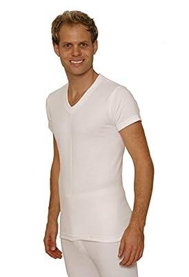 OCTAVE® Mens Thermal Underwear Short Sleeve 'V'-Neck T-Shirt / Vest / Top