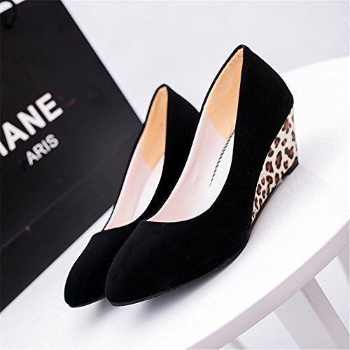 TMKOO 2017 été nouvelle piste de Leopard ronde avec des chaussures de grande taille casual chaussures bouche peu profonde B