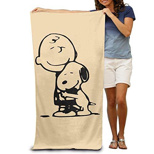 Travis Carr Charlie Brown Erwachsenes buntes Strand oder Pool-mit Kapuze Tuch 80cm * 130cm