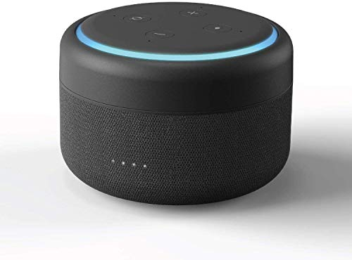 Amazon Echo Dot Akku 3 Generation - Powerbank und Kabellos Batteriestation für Alexa Echo Dot 3. Generation - Anthrazit (Echo Dot Nicht enthalten)