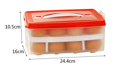 JAZS Double-couche Sous-grille Oeuf Box Mettre La Boite Oeuf Cuisine Avec Réfrigérateur 24 Boîte De Rangement Cellule Plastique résistant à l'humidité multi-usages (Couleur : #1)