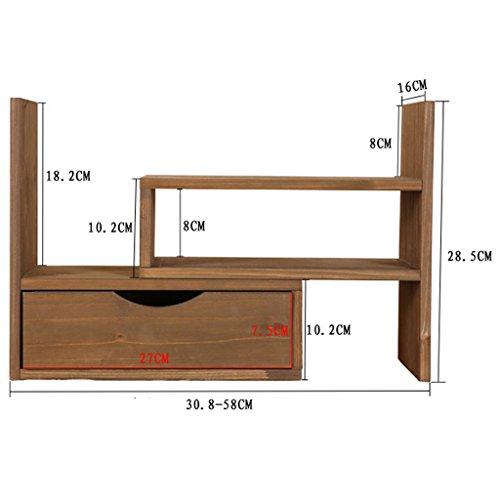 HLYR libreria in legno giapponese creativo registrabile legno ...