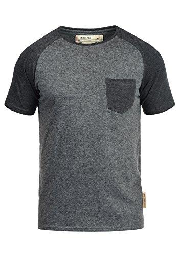 INDICODE Gresham T-Shirt, Größe:XL;Farbe:Grey Mix (914) (Baseball Tragen)