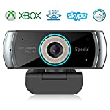 Spedal Full HD 1080P Webcam OBS Live Streaming Web Kamera USB Webcam Xbox YouTube H.264 Computer Kamera für Skype Facebook und Twitch, PC Kamera Mac Windows Kompatibel
