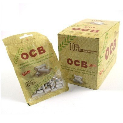 OCB 9100 Organic Slim Filter, 6 mm, 10 Beutel, 120 Stück