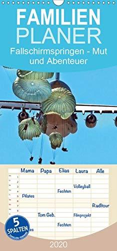 Fallschirmspringen - Mut und Abenteuer - Familienplaner hoch (Wandkalender 2020 , 21 cm x 45 cm, hoch): Fallschirmspringen - eine unglaublich extreme, ... (Monatskalender, 14 Seiten ) (CALVENDO Sport)