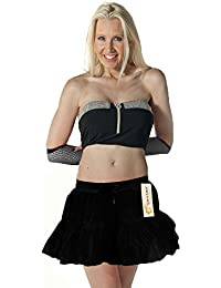 Crazy Chick 2 Layer Tutu Skirts Girls Women Halloween Dancewear Fancy Dress Skirts