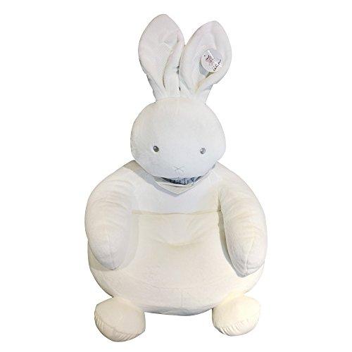 Weiße Plüsch Kaninchen Sofa Stühle Tiere Sessel Wohnzimmer Schlafzimmer Dekoration für Ostern Weihnachtsgeschenk (White)