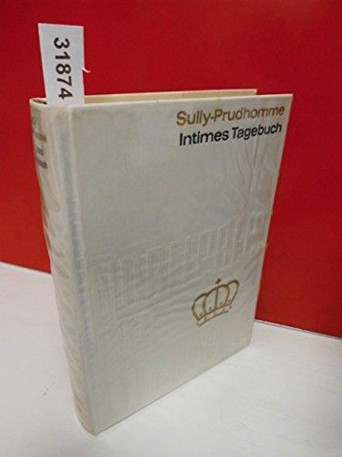""""""" Intimes Tagebuch und Gedanken """" von Sully Prudhomme . Aus der Sammlung : Nobelpreis für Literatur 1901 , Band 1 . Einband aus echter, schwerer, weißer Tafelseide mit echter Gold-Blindprägung . (Coron-Verlag)"""