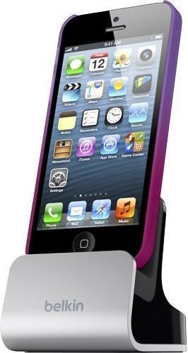 Belkin Lade-Sync Dockingstation (geeignet für Apple iPhone 5/5s/5c, Lightning-Kabel nicht enthalten)