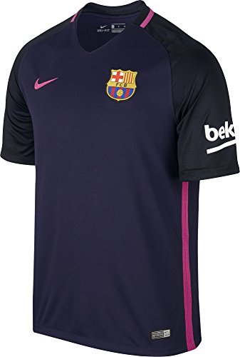 Brand new, official Barcelona Away shirtfor the 2016-2017 La Liga season. This authentic football kit is available in adult sizes S, M, L, XL, XXL and is manufactured by Nike.Personalise your FC Barcelona Football Kit with the name and number of ...