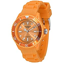 Madison New York Men's Quartz Watch Candy Time Mini U4167-20/2 with Plastic Strap
