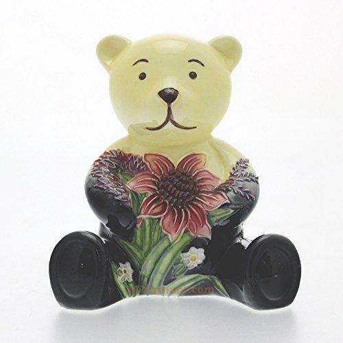 Old Tupton Ware TW5907, Porzellan, Sammlerstück, Bär Teddybär Summer Bouquet (Juli), in Geschenkverpackung (Teddybären Sammlerstücke)