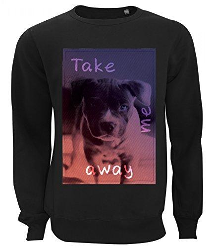 Three Monkeys Cute Dog Animals Collection Women's Unisex Sweatshirt Nero Large