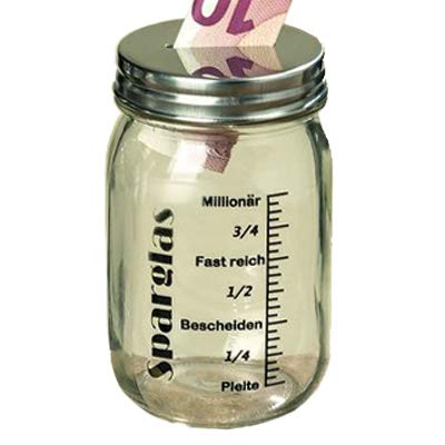 Spardose Sparbüchse Vorratsglas (Sparglas)