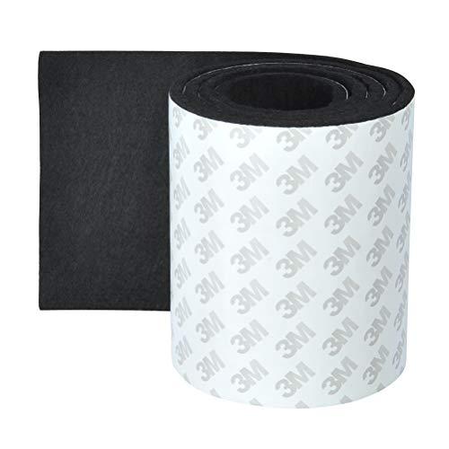 OFNMY Almohadillas Muebles - Almohadillas de Fieltro Adhesivas Espesor 4 mm para Protector Sillas Patas, Muebles Madera, Antideslizante (Negro)