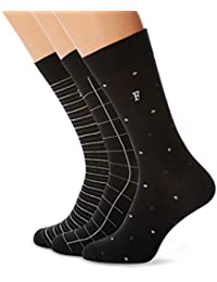 French Connection 3 Waterfall Socks, Calcetines para Hombre, (Pack de 3)