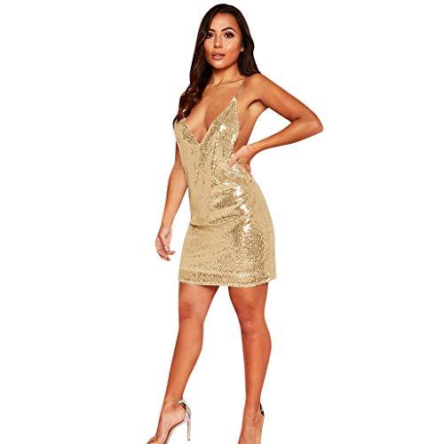 Mujer Mini Vestido Vestidos Cortos para Discoteca Sexy Vestidos De Noche Lentejuelas...