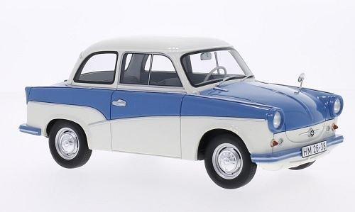 Trabant P50, blau/weiss, 1958, Modellauto, Fertigmodell, BoS-Models 1:18