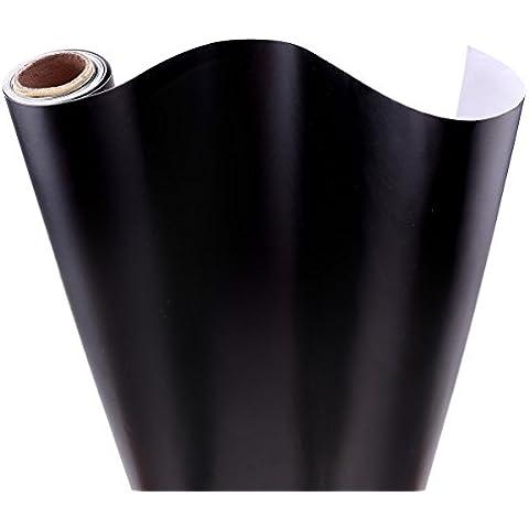 Lámina de pizarra adhesiva, 300 x 60 cm, incluye tizas, color negro
